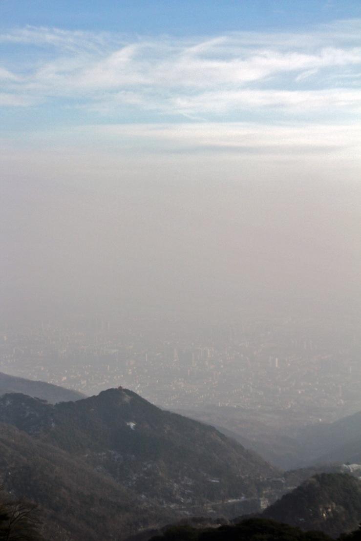 Tai'an and Smog and Temple