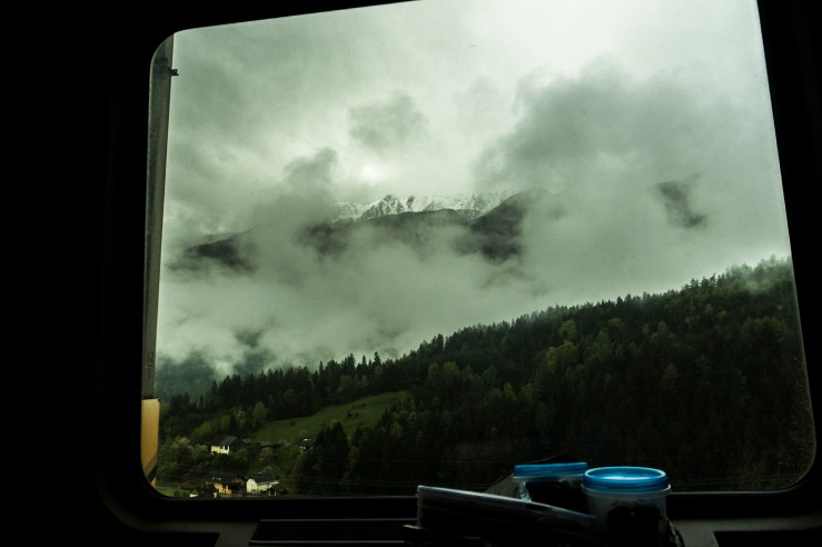 alps through train